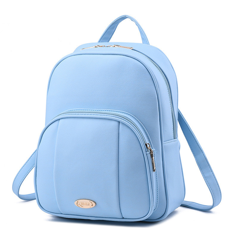 Fashion Women Backpack High Quality PU Leather Backpacks for Teenage Girls Female School Shoulder Bag HY