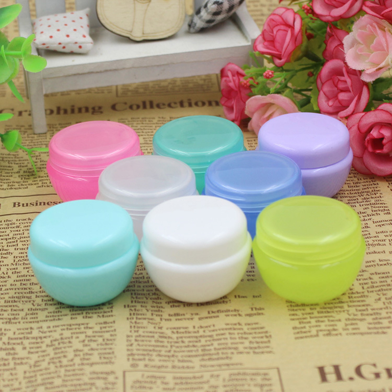 Small Portable lastic Empty Makeup Bottle Travel Empty Makeup Jar Pot Travel Face Cream/Lotion/Cosmetic Container 5g/10g/20g 10pcs empty cosmetic jar pot acrylic eyeshadow makeup face cream container portable travel box for skin care lotion 5g