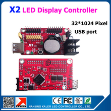 32x1024pixel single and dual color led display controller X2 usb port for p10 p16 p20 single color or dual color led display