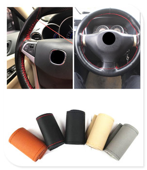 New car interior hand sewing steering wheel cover protection for BMW i8 Z4 X5 X4 X2 X3 M5 M2 X6 M6 640i 640d image
