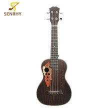 23inch 18 Frets Acoustic Concert Rosewood Ukulele Uke 4 Strings Classcial Sound Holes Guitar For Beginners Musical Instruments