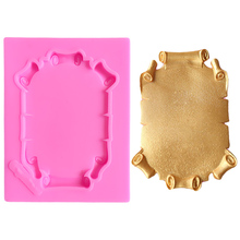 Food Grade Photo Frame Silicone Cake 3d Soap Molds Wedding Stand Silikon Form For Fimo 3D Decorating Moulds A1067