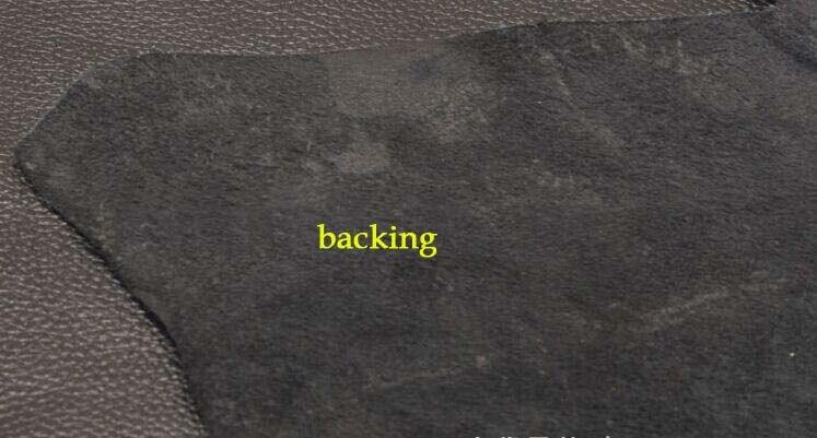 Noir doux véritable lichi texture cuir de vache pièce entière - 3