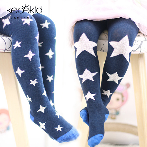 KACAKID Children Pantyhose Cute Stars Pattern Unisex Baby Children Pantyhose Cotton Anti-slip Girl Boy Children Stockings Ka1170