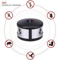 360 Graus Rotate HG99 Ultrasonic Rato Controle de Pragas Repelente com Anion Purificação Do Ar