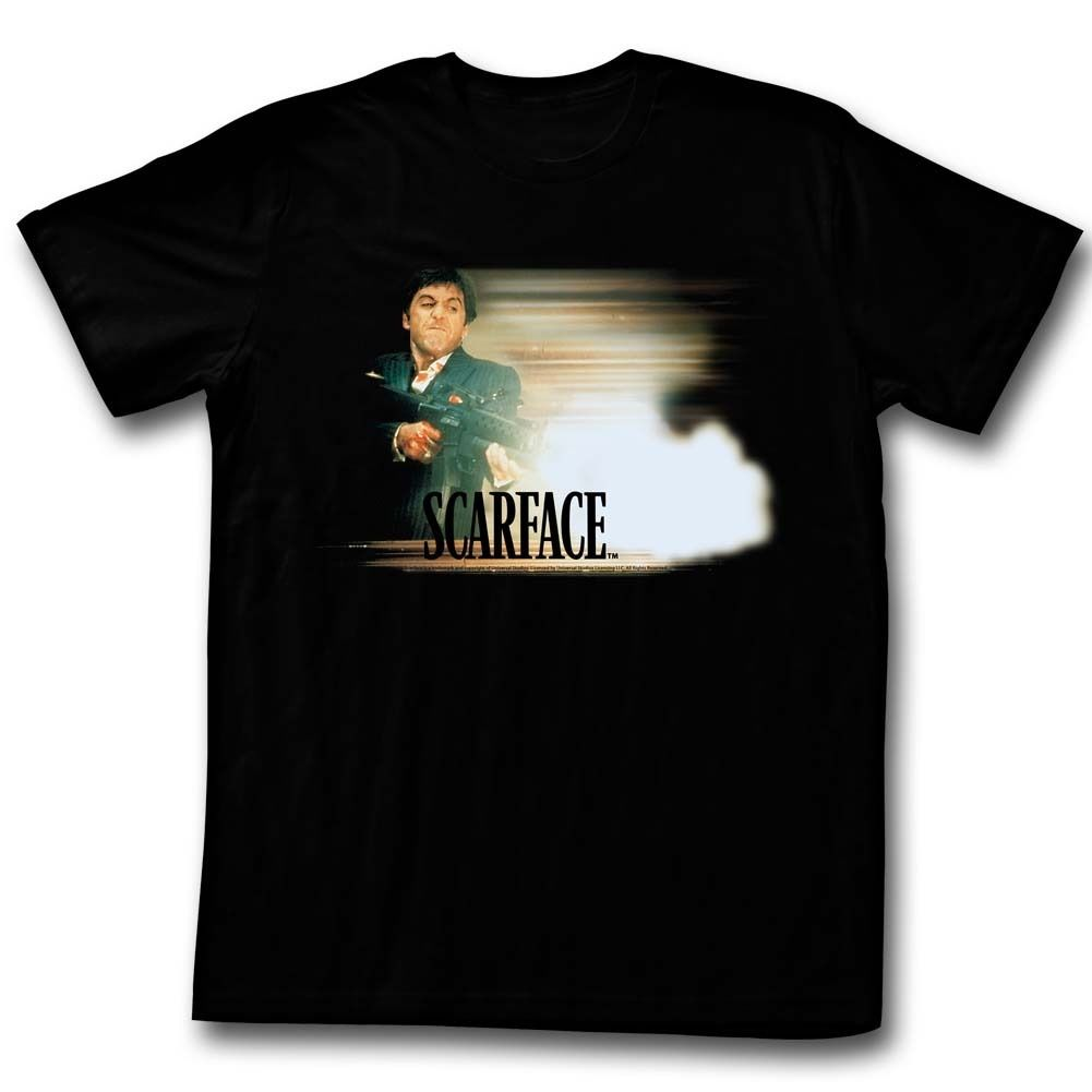 Scarface Movie Tony Montana Licensed Adult T Shirt Funny Clothing Casual Short Sleeve T-Shirt Men High Quality Top Tees