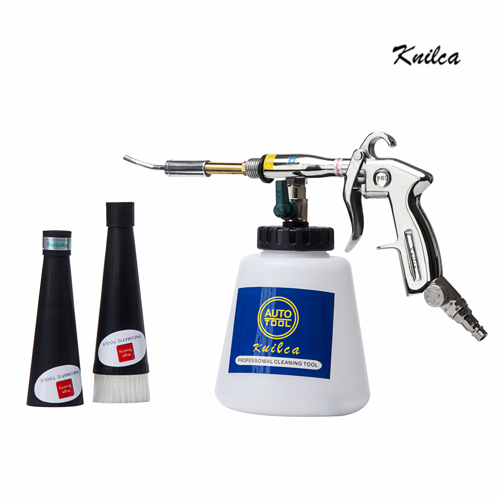 Knilca Tornador Black Car Cleaning Gun Dry Cleaner Tornador Apparatus With Metal Bearing Turbo Twister Pneumatic Car Tool