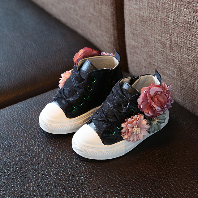 Cute Girl's Sneakers with Flower
