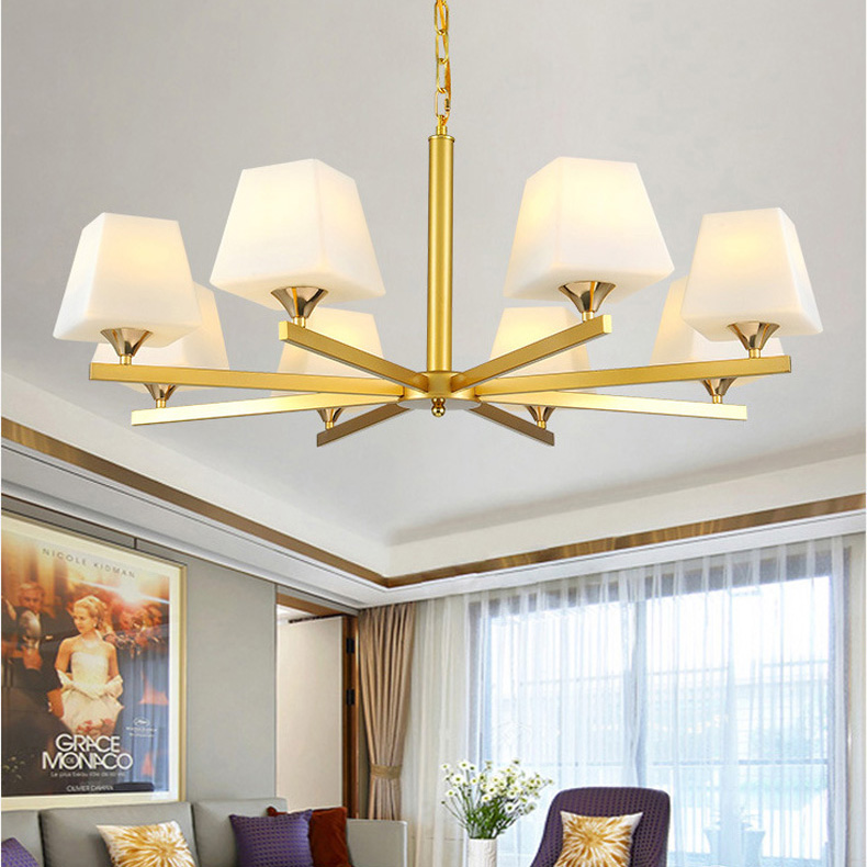 Luxury Golden Pendant chandelier Gold Mid Century Metal chandelier Light Fixture for Dining Room Bed Room  Room AC110-240VLuxury Golden Pendant chandelier Gold Mid Century Metal chandelier Light Fixture for Dining Room Bed Room  Room AC110-240V