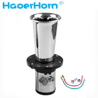 Chrome 110dB 12v New Antique Vintage Old Style Vehicle Boat Auto Car Truck Loud Alarm Horn