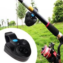 Black small Electronic Wireless ABS plastic Fish Bite Alarm Sound Running LED Light Sensitive included Battery