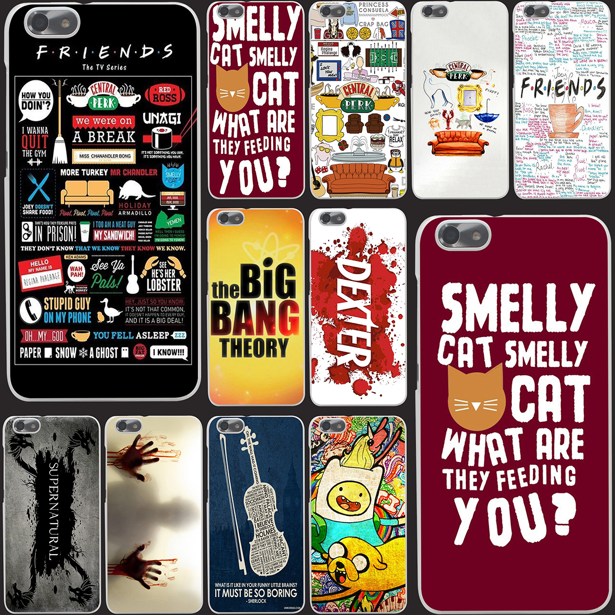 5741-OIE FRIENDS FUNNY TV SHOW Hard Case Transparent Cover for Huawei P6 P7 P8 Lite P9 Lite Plus & Honor 6 7 4C 4X G7