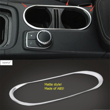 цена на Lapetus Accessories For Mercedes Benz GLA 200 220 X156 2015 2016 2017 2018 Middle Water Cup Holder Frame Cover Trim Kit