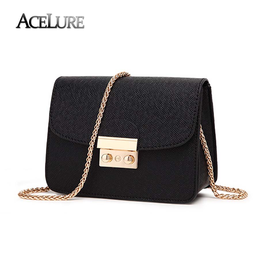 ACELURE Summer Brand Bags Women Leather Handbags Chain Small Women Messenger Bag Candy Color Women Shoulder Bag Party Lock Purse стоимость