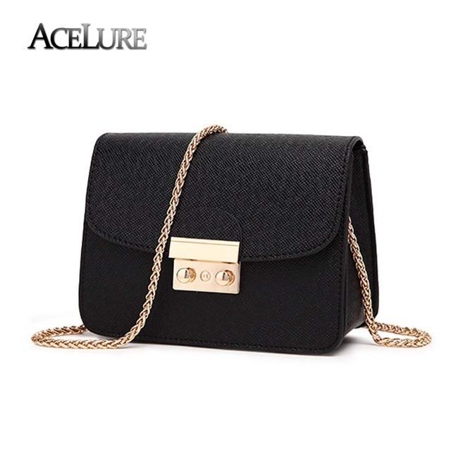 b97a297bca2c ACELURE Summer Brand Bags Women Leather Handbags Chain Small Women  Messenger Bag Candy Color Women Shoulder Bag Party Lock Purse
