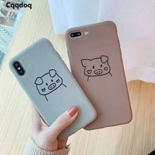 Cqqdoq Thick TPU Shockproof Phone Case For iPhone X XR XS MAX Cartoon Protective Cases 6 6S 7 8 Plus Coque Fundas