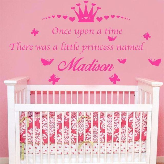 Online Shop T040032 Personaizlied Name Crown Quotes Princess Room ...