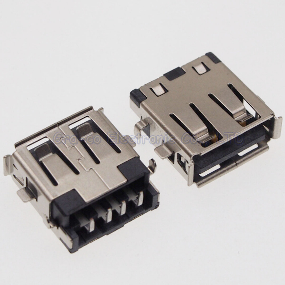 10pcs  USB Socket 2.0 USB Jack Connector 2.0 USB Port