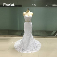 Real Photo High Quality Sexy Robe Mariage 2017 Sweetheart Applique Lace Mermaid Wedding Dresses Turkey With