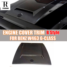 W463 B Style Carbon Fiber Engine Cover Hood Bonnet Trim for Mercedes Benz W463 G-Class G500 G500 G63 AMG