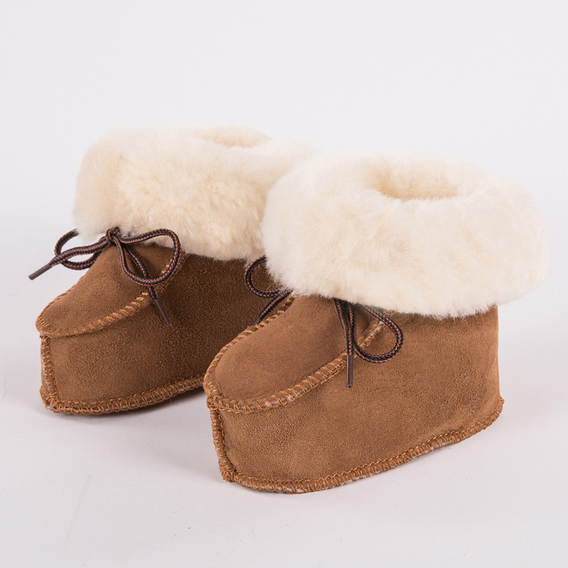 FUR123 חורף עור אמיתי בייבי נעליים - נעלי תינוקות