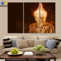 No framed FA304 Art Prints Poster Abstract Wall Pictures Buddha Portrait Zen Large Canvas Painting Living Room Home Decor