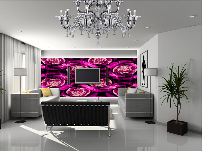 Custom large floral wallpaper,Large flower murals for the bedroom TV in the living room wall waterproof vinyl papel DE parede pair of alloy leaf feather earrings