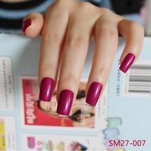 2016 24pcs Explosion models  fashion Long section Square head candy false nails decoration Sexy burgundy  M007