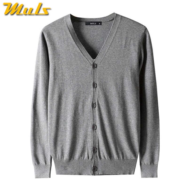 4 cores 2017 outono novos homens cardigan camisola 100% algodão knited suéter masculino primavera cardigãs cinza escuro muls marca caber M-3XL