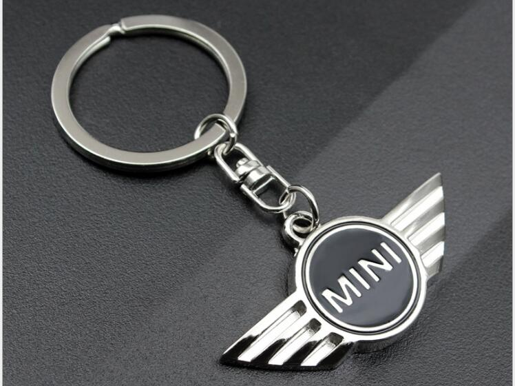 1pc Mini Cooper Autobots Angel Wings Brand Sports Car Symbol Keychains Keyring Metal Auto