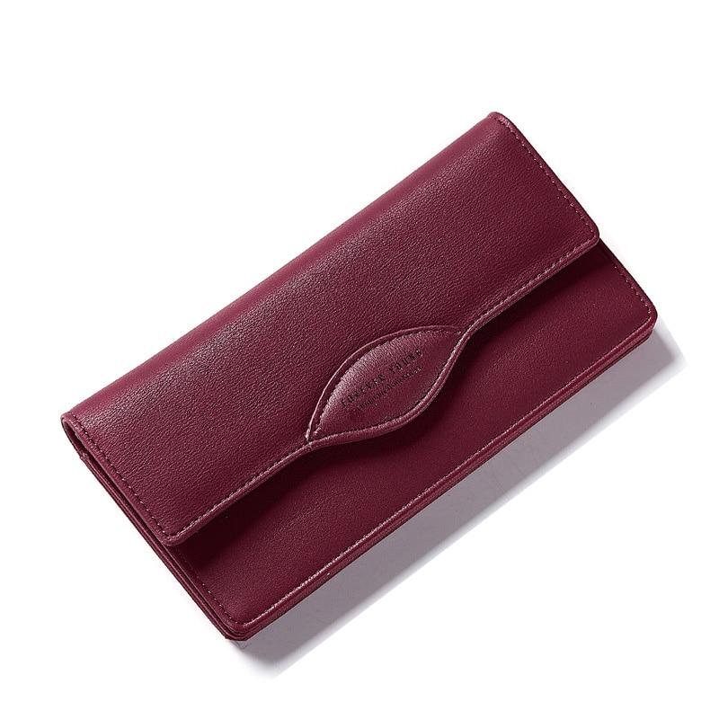 Luxury Brand Women Wallets New Design High Quality PU Leather Wallet Women Purse Fashion Coin Purse Card Holder Long Money Bag