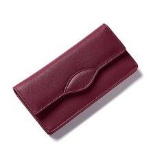 Элитный бренд Для женщин Женские Кошельки Новый Дизайн Высокое качество PU кожаный бумажник Для женщин кошелек Мода Портмоне визитница длинные деньги сумка