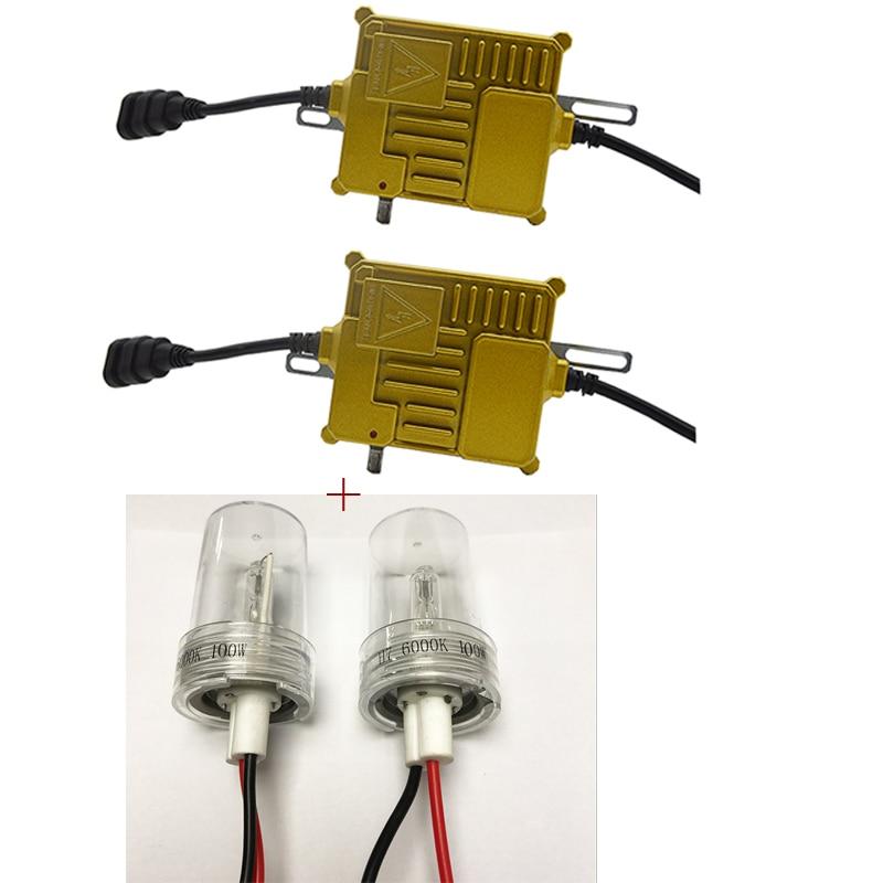DUU 100W Slim Ballast kit HID Xenon Light bulb 12V H1 H3 H7 H11 9005 9006 4300k 5000k 6000k 8000k Auto Xeno Headlight Lamp maxlight slim maxlum ll h3 5000k