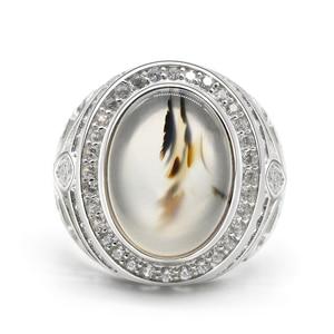 Image 2 - ผู้ชายแหวน 925 เงินสเตอร์ลิงรูปไข่ธรรมชาติหินCZ Hollow Vintage Punkแหวนนิ้วมือสำหรับชายแฟชั่นเครื่องประดับแหวนFine