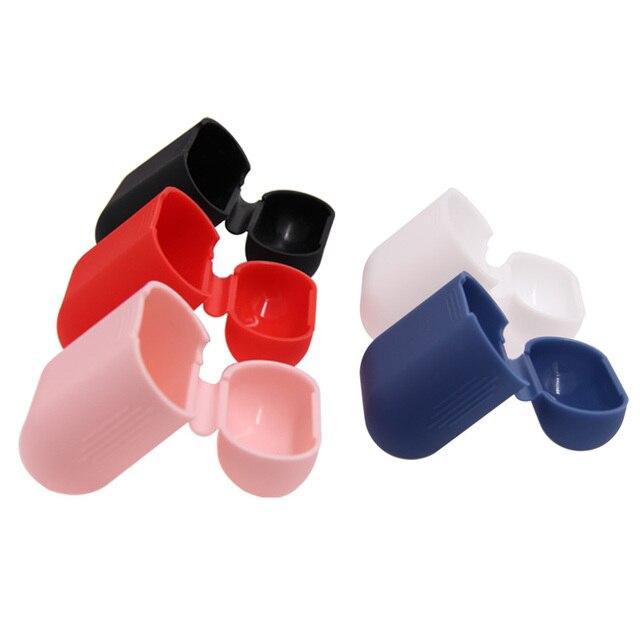 300pcs 부드러운 실리콘 슬림 케이스 커버 애플 Airpods 충전 케이스 공기 포드 보호 케이스 슬리브 파우치 가방 coque fundas 레드