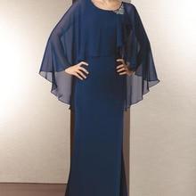 Шифоновое темно-синее платье для матери невесты, элегантное платье для мамы размера плюс, сделанное на заказ, Vestido Madre Novia