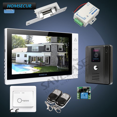 HOMSECUR 1C1M 9 Video Door Entry Security Intercom+LCD Color Screen + Ultra-large Screen Monitor homsecur 9 video door entry security intercom ultra large screen monitor 2c1m