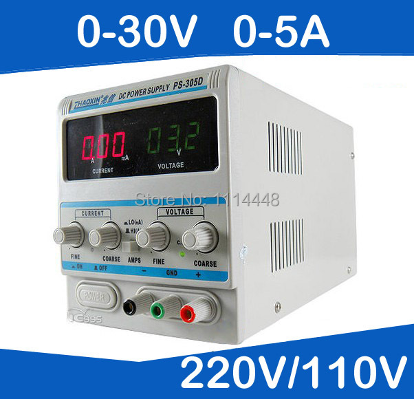 0-30V, 0-5A Output Brand New Digital DC Power Supply For Lab PS-305D 110V/220 adjustment new digital 6 30