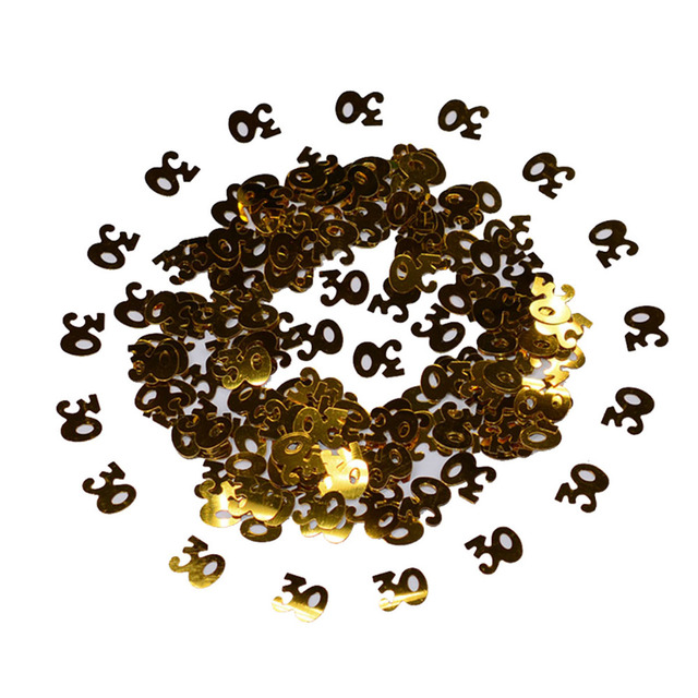 60g Gold Sparkle Happy 30th Birthday Confetti Golden 30 Anniversary Party Table Scatter Decorations