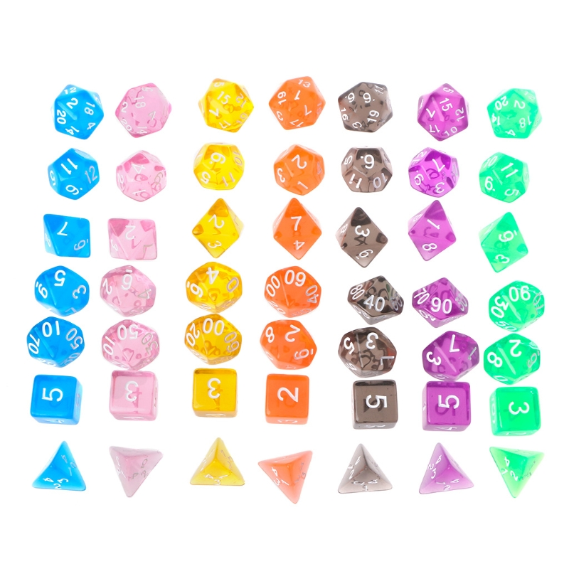 Clear Polyhedral Game Transparent Dice For Dragon Pathfinder  Selling Hot