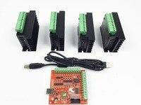 CNC TB6600 Mach3 Usb 4 Axis Kit 4pcs TB6600 1 Axis Driver One Mach3 4 Axis