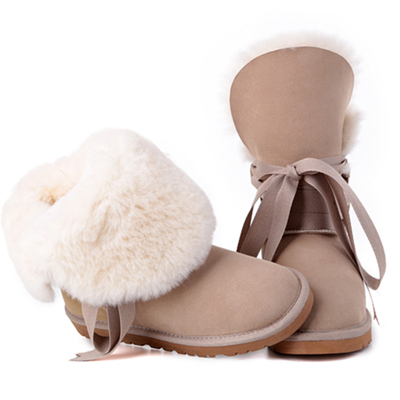 CUWHF 2018 Best Selling 100% Real Sheepskin Brand Classic Woman Snow Boots For Women Winter Boots Wholesale Retail wholesale low laser therapy best selling products for women for tighten vaginal best selling products for women