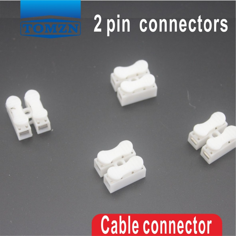 100Pcs 2 pin push quick cable connector terminal Wiring Terminal 10A ...