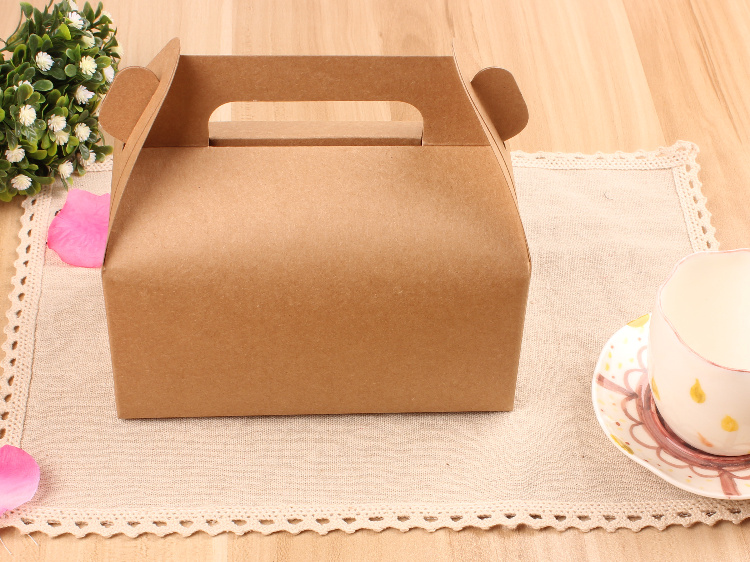 50pcs 16.2x9x8cm kraft Mousse Hand cake box paper box gift packaging boxes christmas gift bags and boxes for wedding Jewelry