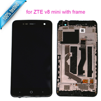 For ZTE Blade V8 Mini LCD Display Touch Screen With Frame Phone Parts Free Tools