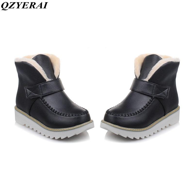 Dower Me Зимние ботинки Большие размеры 34-44 Новый 2018 Снегоступы женские зимние ботинки на платформе водонепроницаемые ботильоны ботинки на мех...