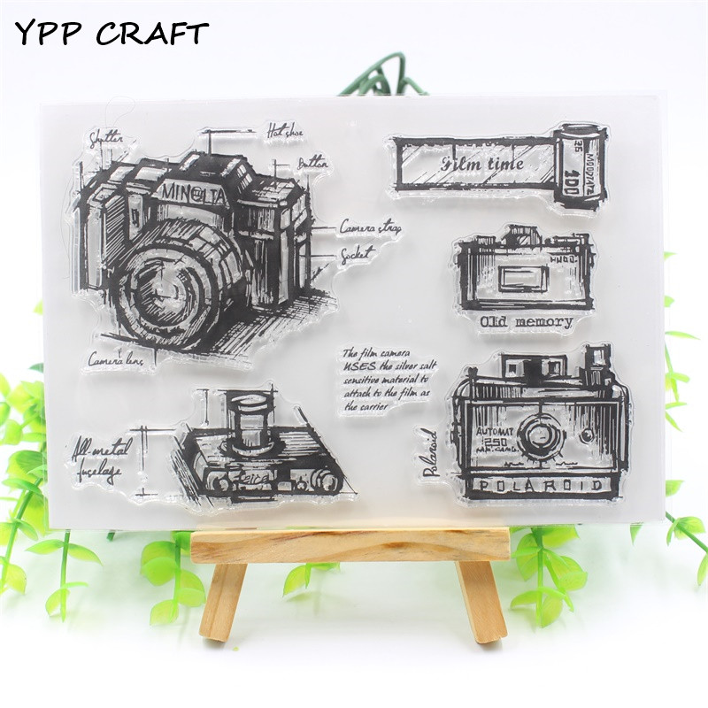 YPP CRAFT Camera Transparent Clear Silicone Stamp/Seal for DIY scrapbooking/photo album Decorative clear stamp sheets christmas holiday wishes clear silicone rubber stamp for diy scrapbooking photo album decorative craft clear stamp chapter