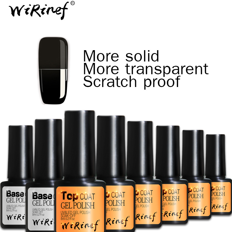 wirinef shiny uv top coat nail