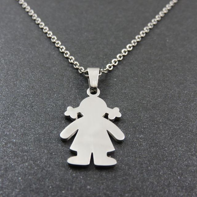Mothers baby girl pendant necklace happy little girls pendant mothers baby girl pendant necklace happy little girls pendant fashoin stainless steel jewelry aloadofball Images