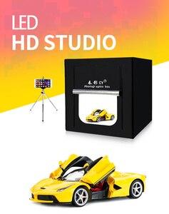 Image 2 - CY софтбокс для фотостудии, 60*60 см светодиодный софтбокс для фотосъемки, мягкая коробка + переносная сумка + адаптер переменного тока для ювелирных изделий, игрушек, обуви